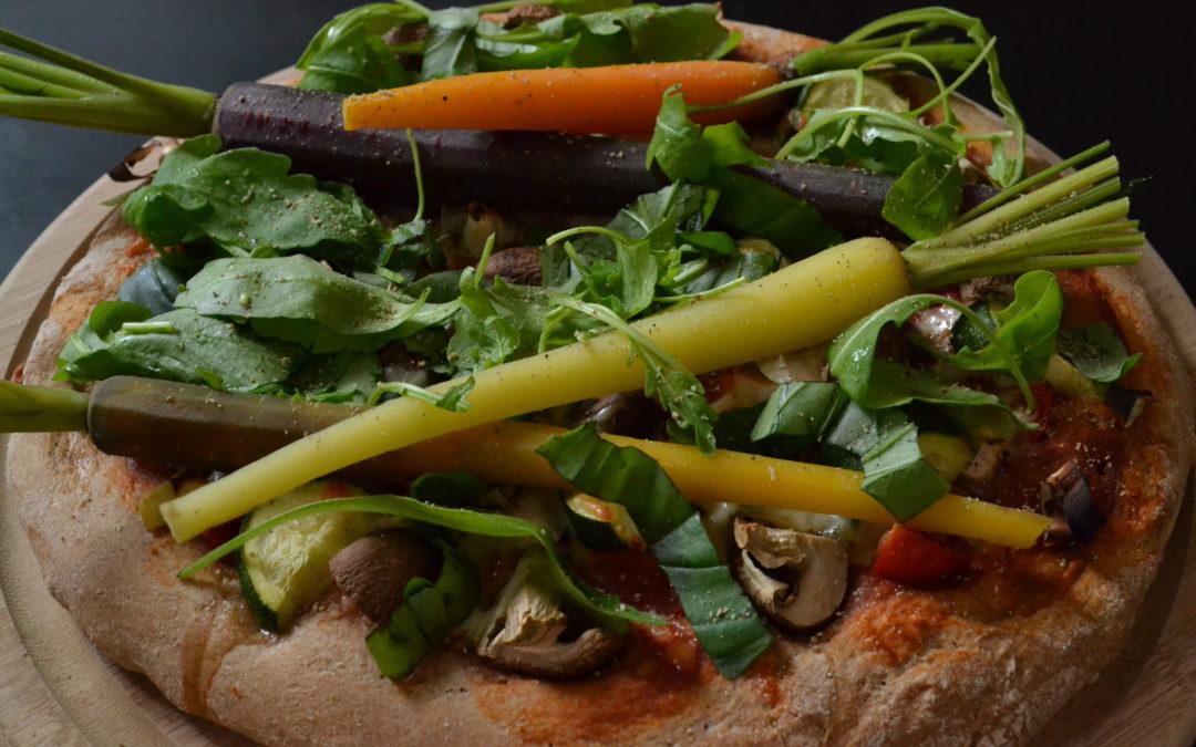 Pizza aus Dinkel-Vollkornmehl