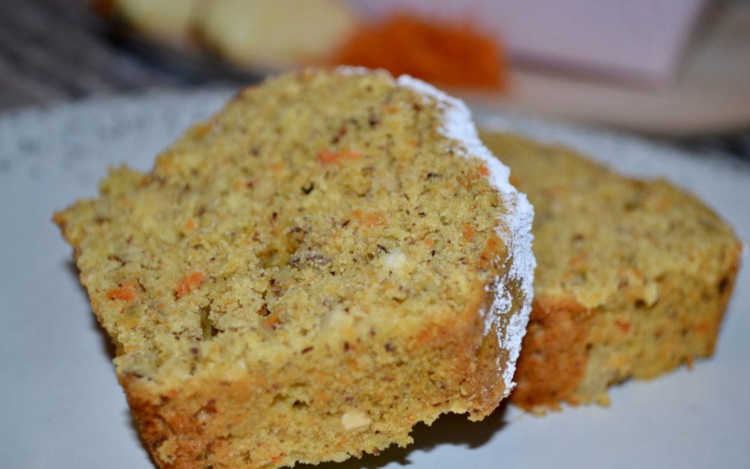 Karotten-Apfel-Kuchen mit Dinkelmehl
